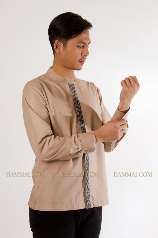 baju koko modern  soft-brown(2)