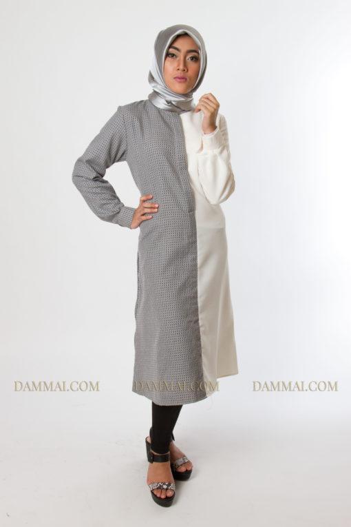 tunik modern grey-white (1)