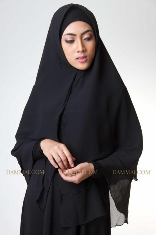 black jilbab syar'i 301