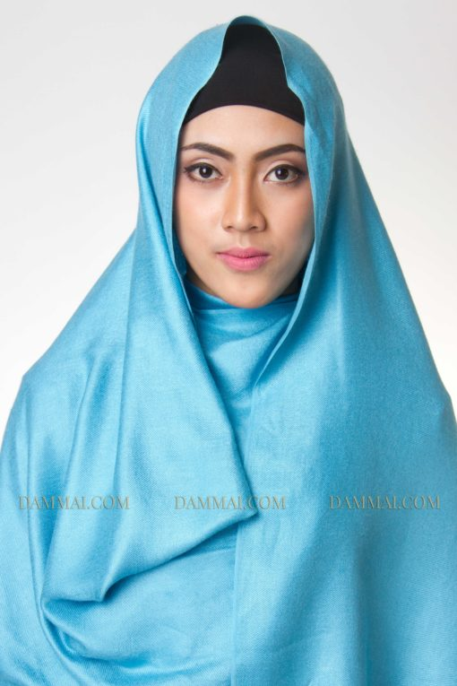 blue sky hijab pashimina 1001
