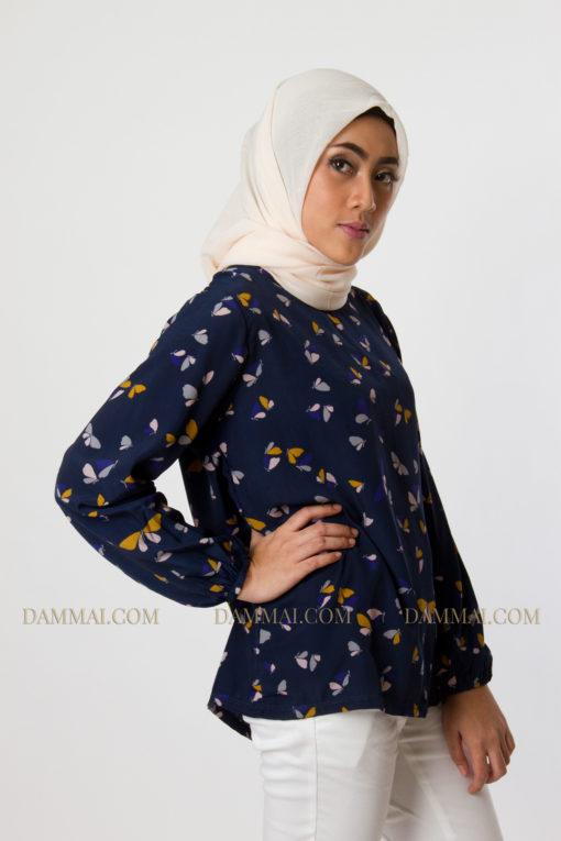 butterfly muslim blouse 802