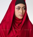 cherry red fever hijab pashmina 1102