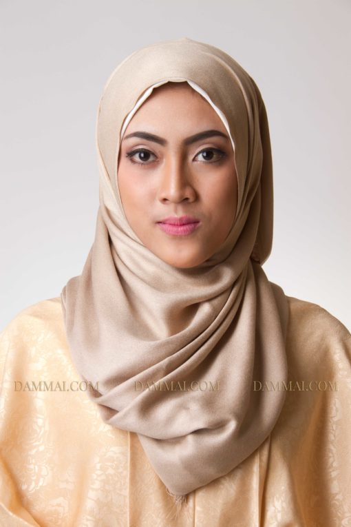 flaxen hijab pashimina 501