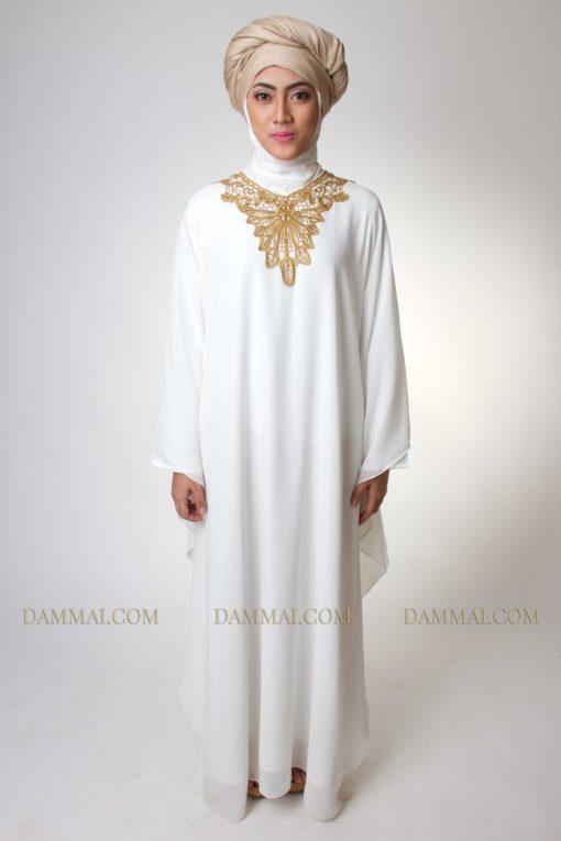 golden white kaftan muslim 1301