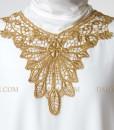 golden white kaftan muslim 1303