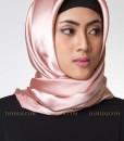 goldy pink jilbab segi empat 802