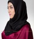 hijab pashmina hitam 301