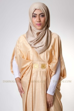 lux peach kaftan muslim 1201