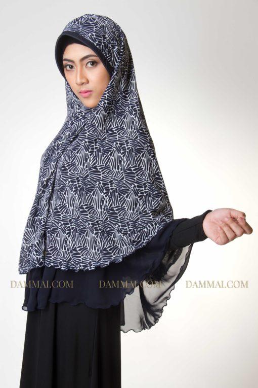 modern edgy blue jilbab syar'i 202