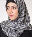 modern stripes hijab segi empat 1602
