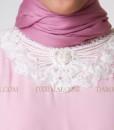 pastel pink modern gamis 1404