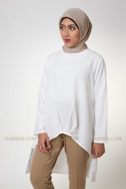 pure white muslim blouse 2001