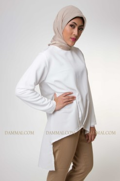 pure white muslim blouse 2002