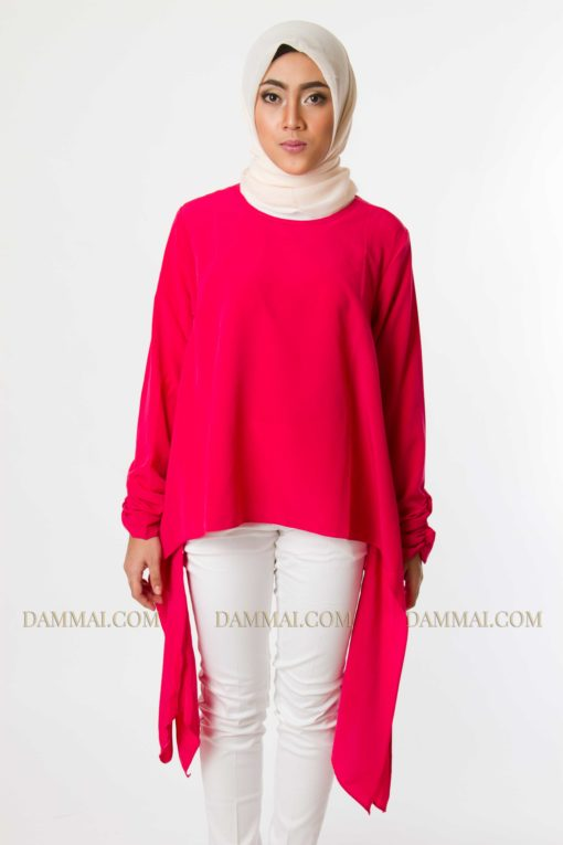 red fashion muslim blouse 901