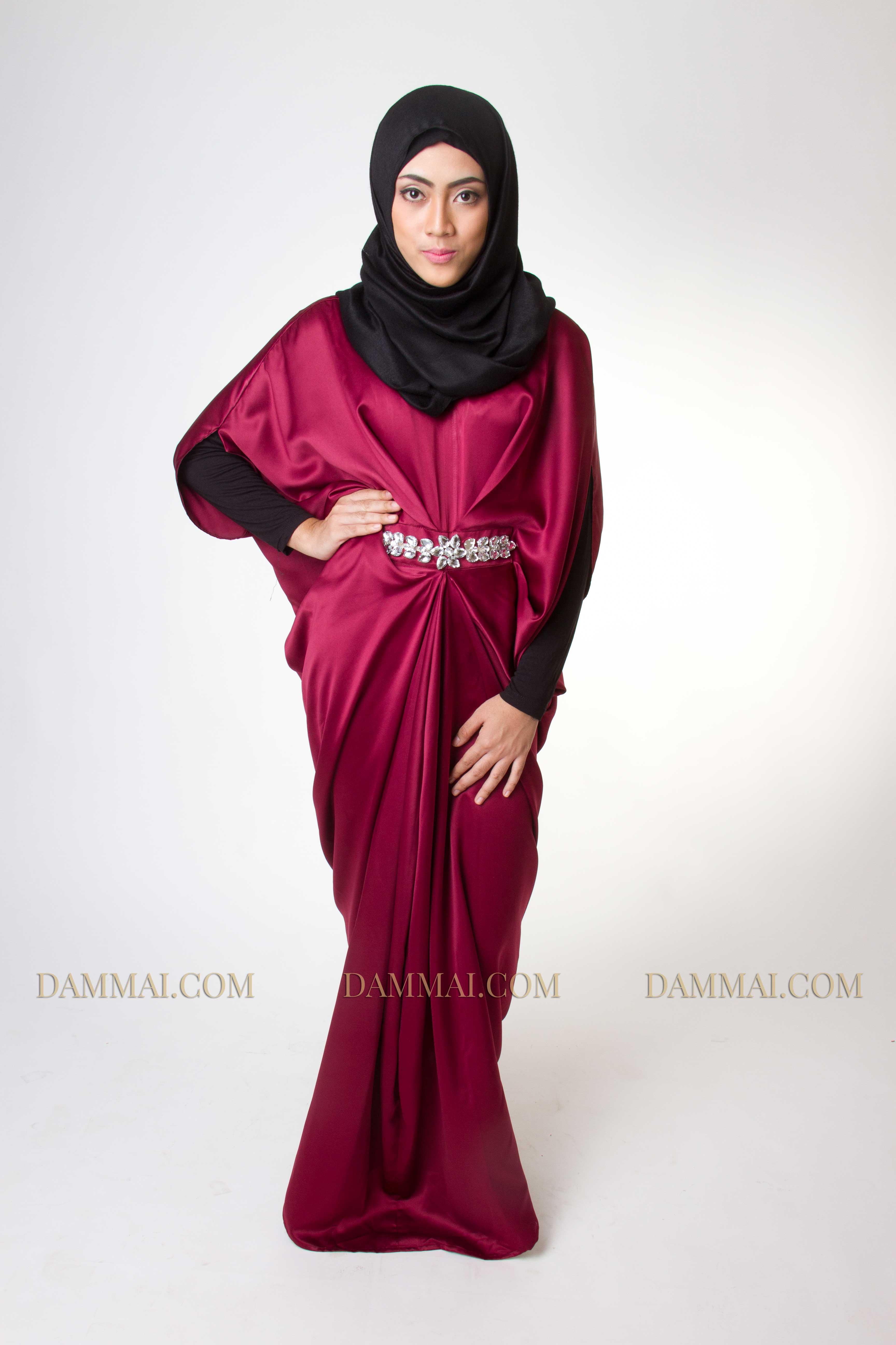 Jual Baju Gamis Macaron Terbaru Flush Evening Dress Red