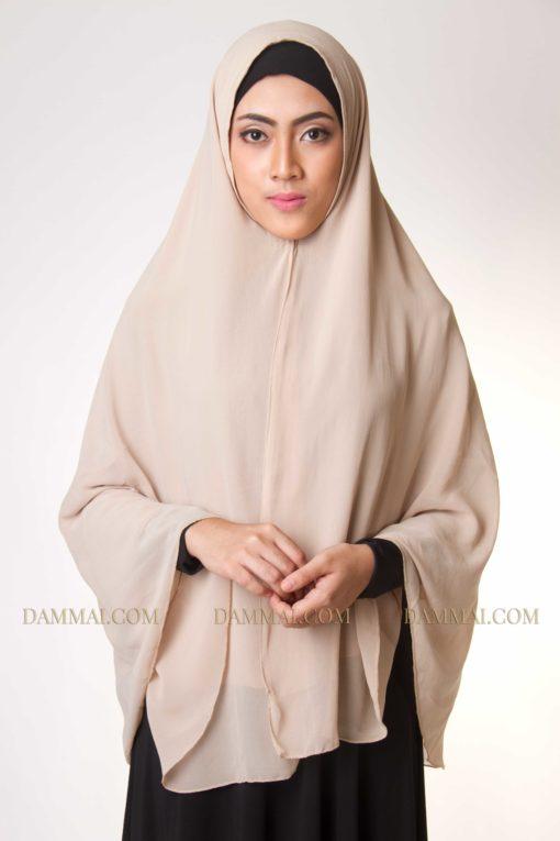 soft brown jilbab syar'i 402