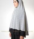 white polkadot jilbab syar'i 102